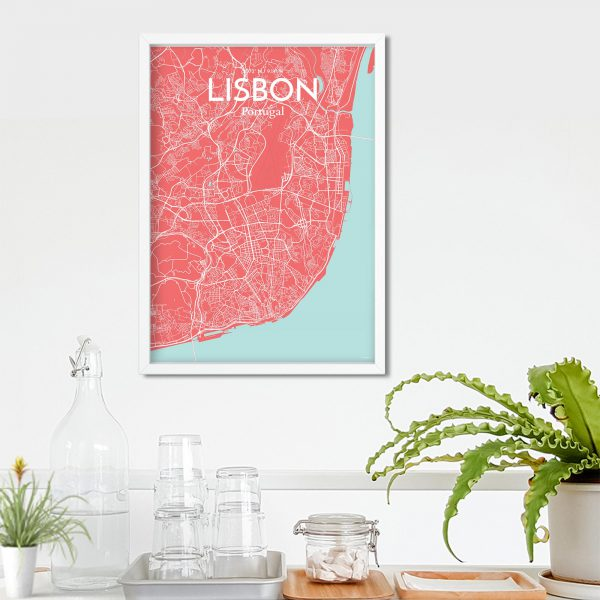 Lisbon City Map Poster by OurPoster.com