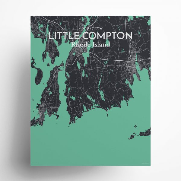 Litle Compton City Map Poster by OurPoster.com