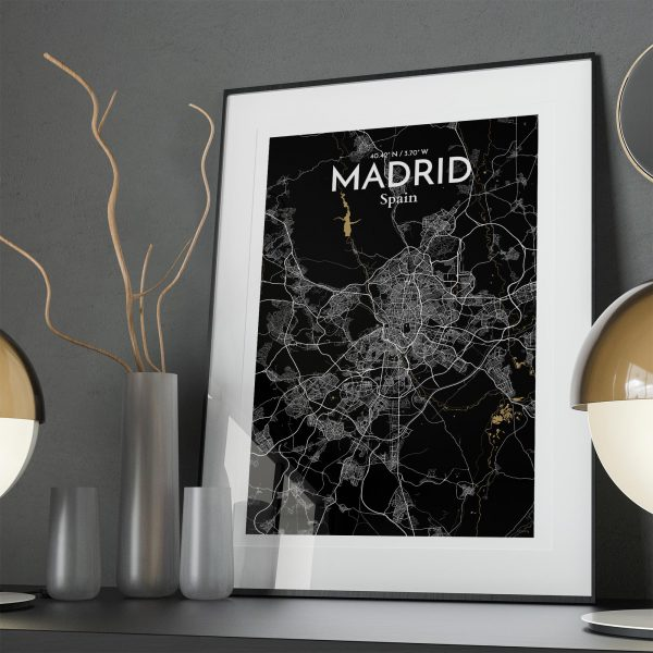 Madrid City Map Poster by OurPoster.com