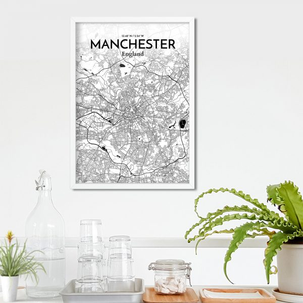 Manchester City Map Poster by OurPoster.com