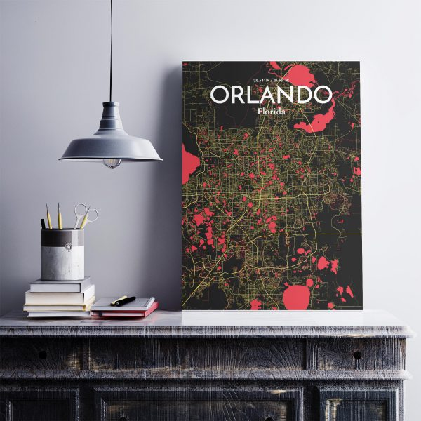 Orlando City Map Poster by OurPoster.com