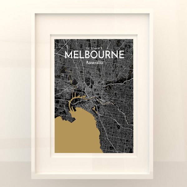 Melbourne City Map Poster by OurPoster.com