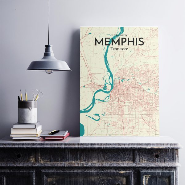 Memphis City Map Poster by OurPoster.com
