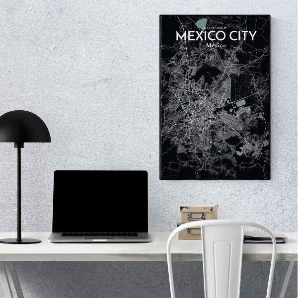 Mexico City City Map Poster by OurPoster.com