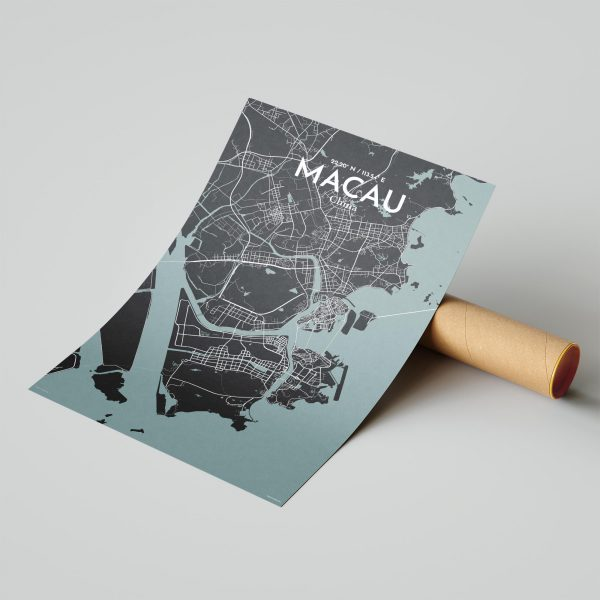 Macau City Map Poster by OurPoster.com