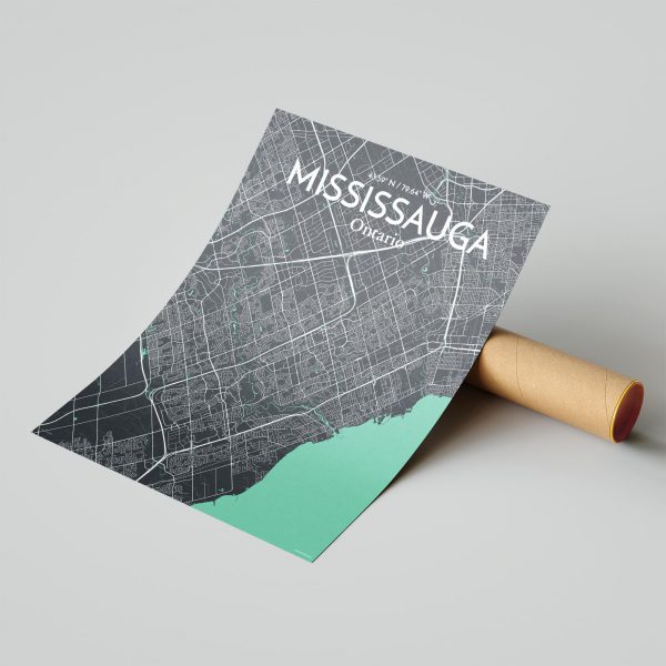Mississauga City Map Poster by OurPoster.com