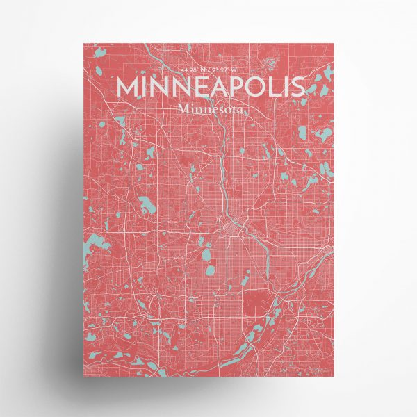 Minneapolis City Map Poster by OurPoster.com