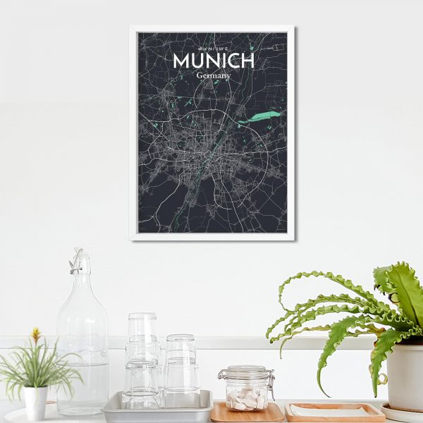 Munich City Map Poster by OurPoster.com
