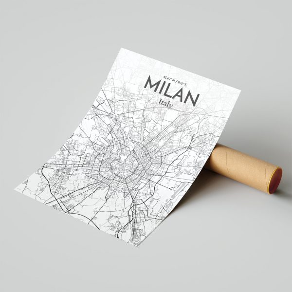 Milan City Map Poster by OurPoster.com