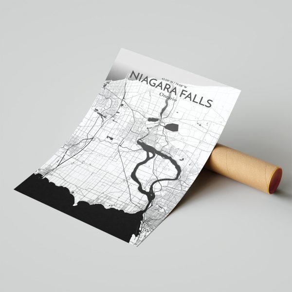 Niagara Falls City Map Poster by OurPoster.com