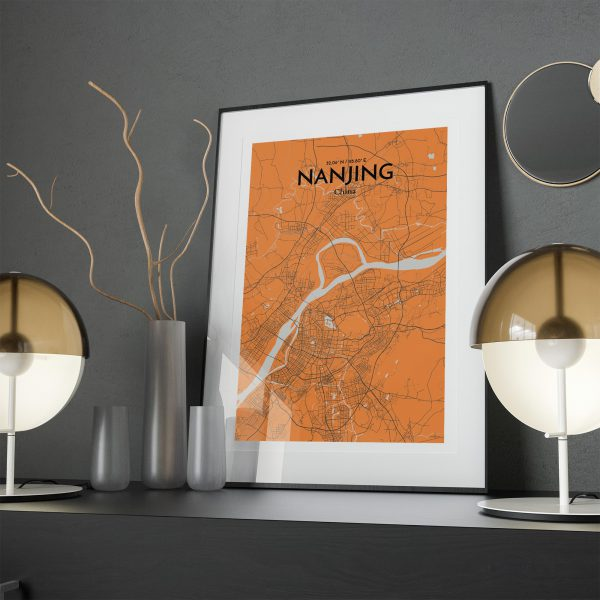 ��Nanjing City Map Poster by OurPoster.com
