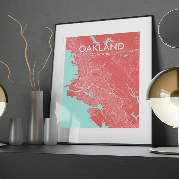 Oakland City Map Poster by OurPoster.com