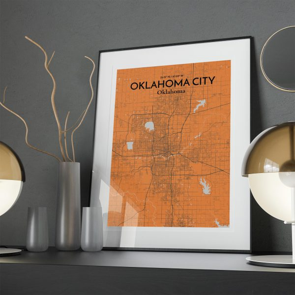 Oklahoma City City Map Poster by OurPoster.com