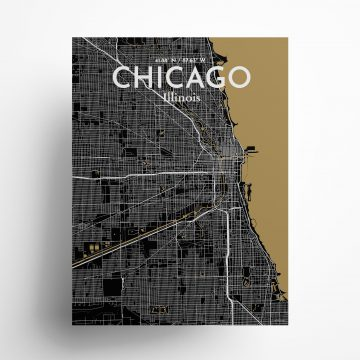Chicago City Map Poster by OurPoster.com