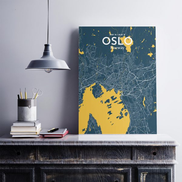 Oslo City Map Poster by OurPoster.com