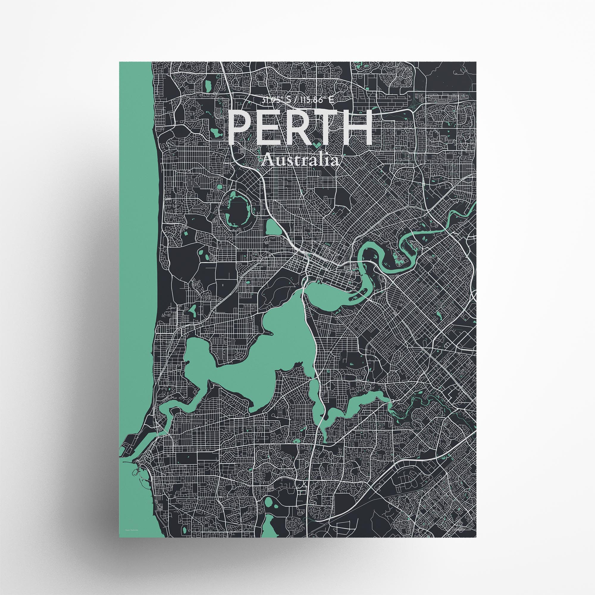 "Perth city map poster in Dream of size 18"" x 24"""