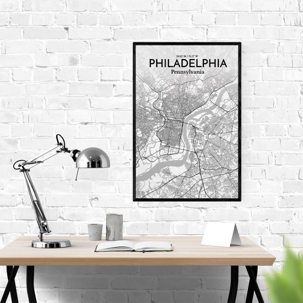 Philadelphia City Map Poster by OurPoster.com