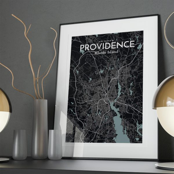 Providence City Map Poster by OurPoster.com
