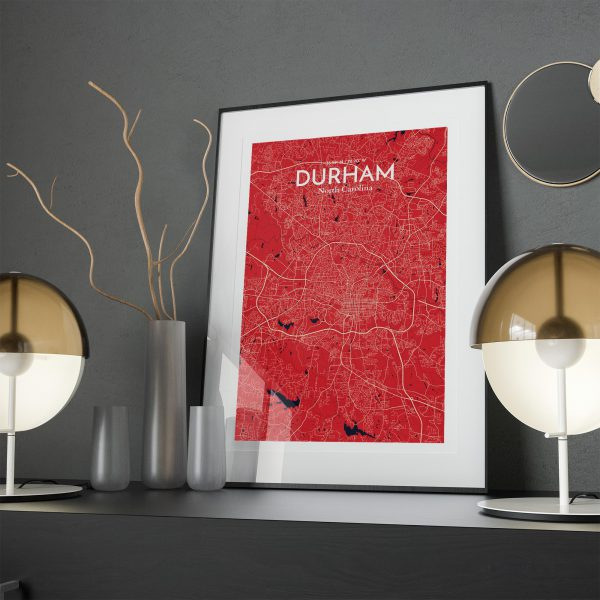 Durham City Map Poster by OurPoster.com
