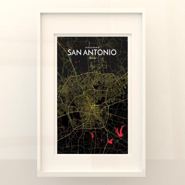 San Antonio City Map Poster by OurPoster.com