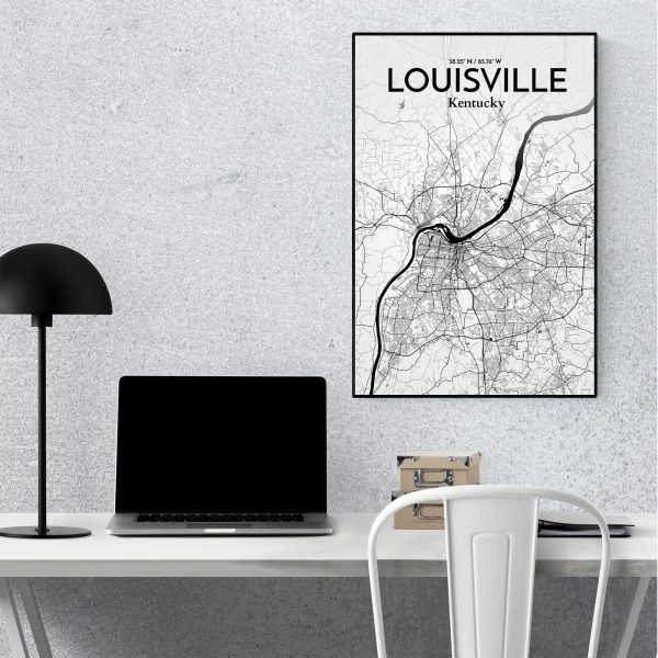 Louisville City Map Poster by OurPoster.com
