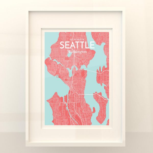 Seattle City Map Poster by OurPoster.com