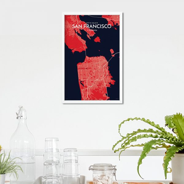San Francisco City Map Poster by OurPoster.com