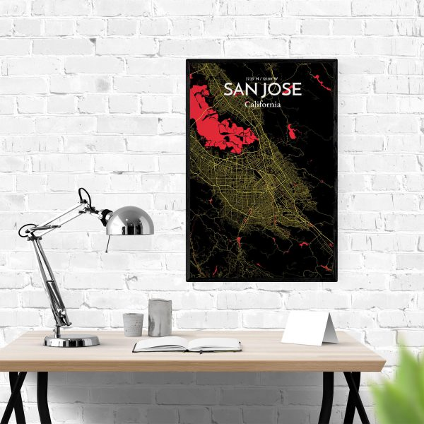 San Jose City Map Poster by OurPoster.com