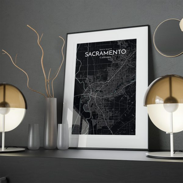 Sacramento City Map Poster by OurPoster.com