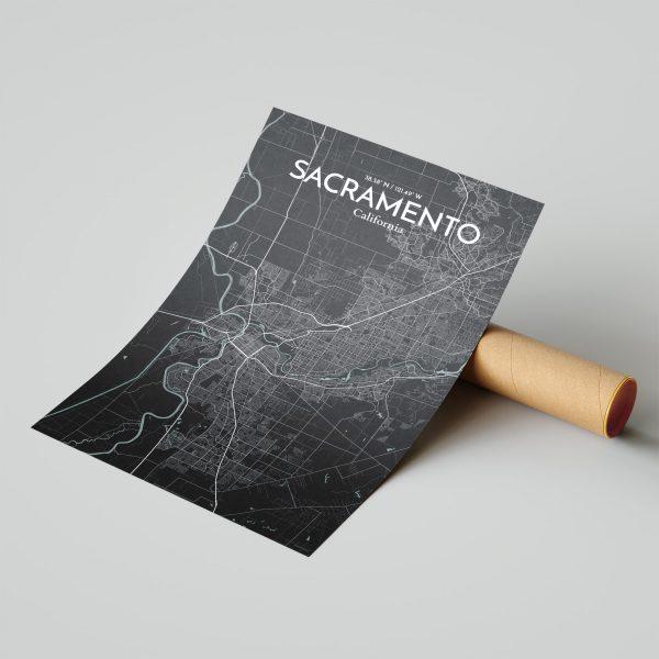 Sacramento City Map Poster by OurPoster.com