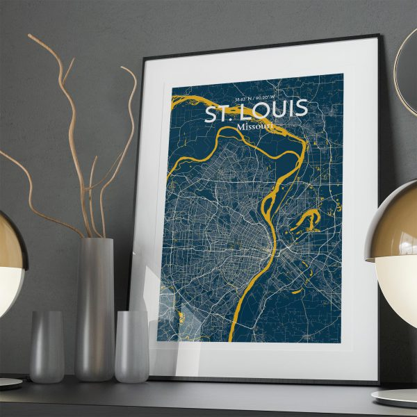 St. Louis City Map Poster by OurPoster.com