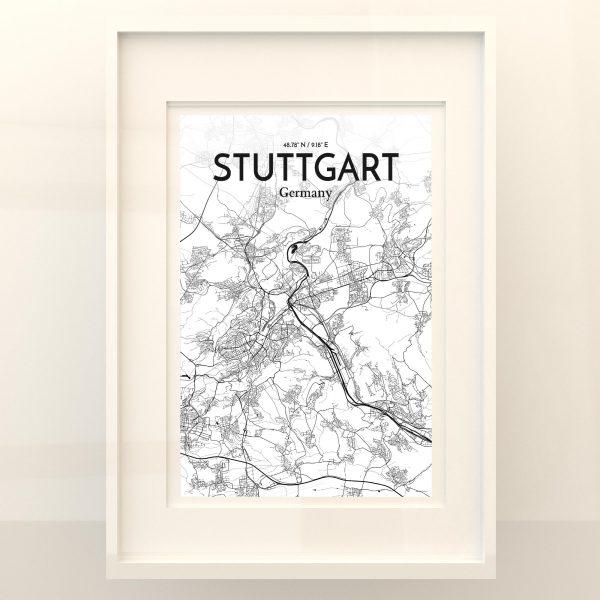 Stuttgart City Map Poster by OurPoster.com