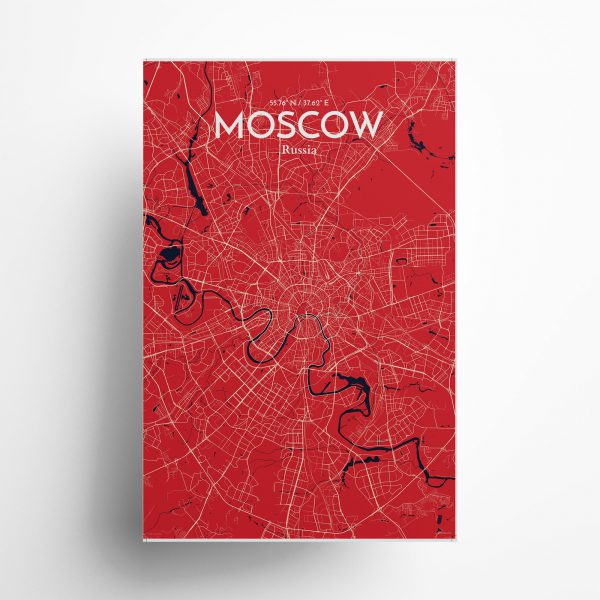 Moscow City Map Poster by OurPoster.com
