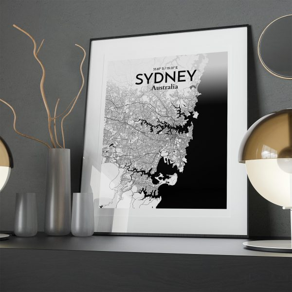 Sydney City Map Poster by OurPoster.com