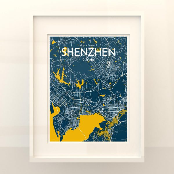 Shenzhen City Map Poster by OurPoster.com