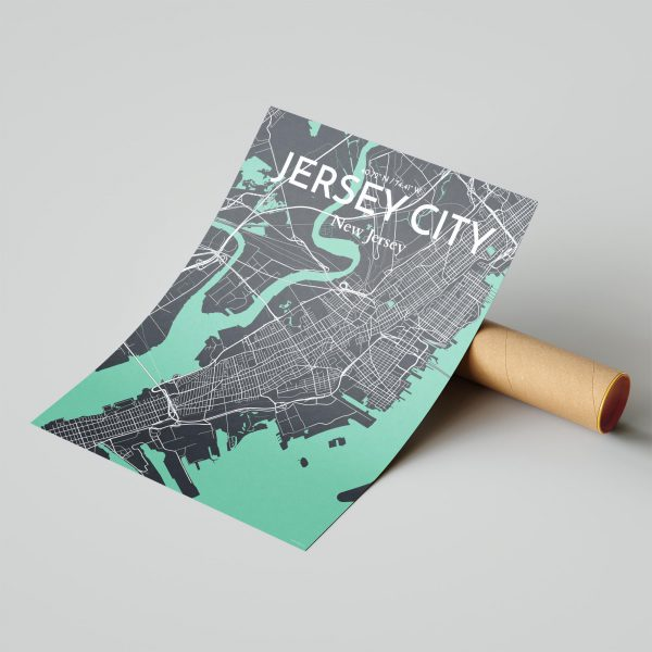 Jersey City City Map Poster by OurPoster.com