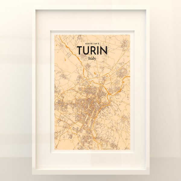 Turin City Map Poster by OurPoster.com