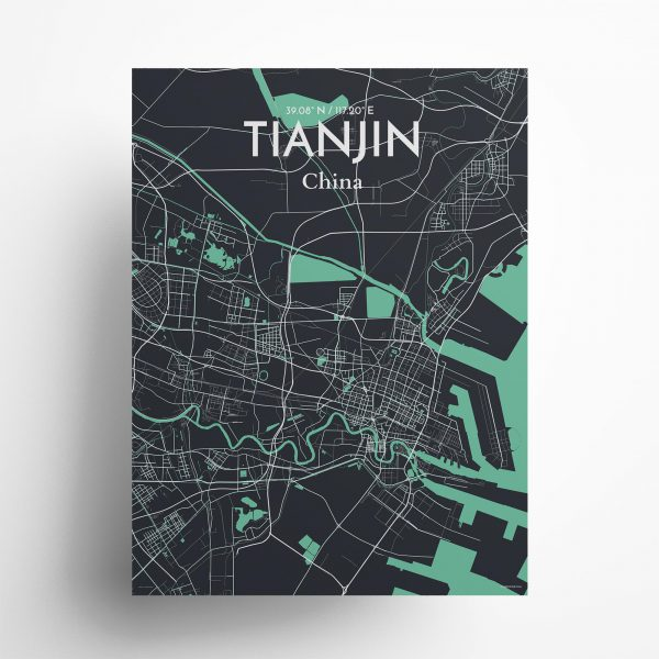 Tianjin City Map Poster by OurPoster.com