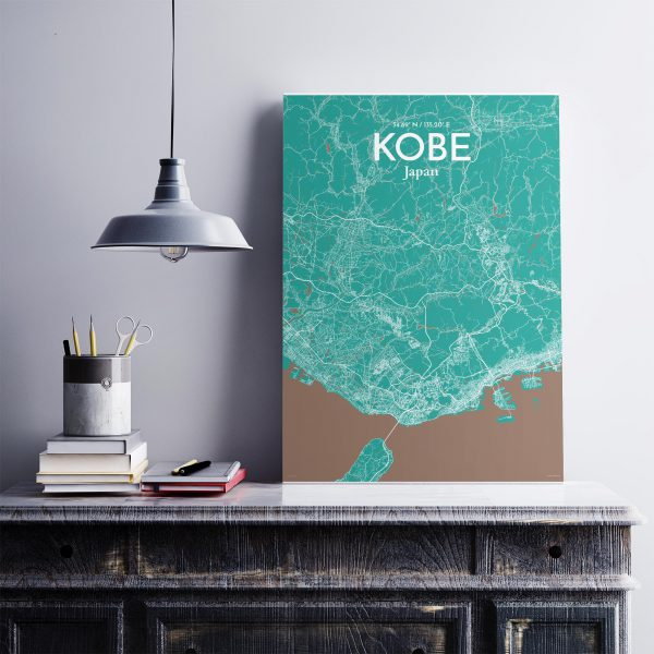 Kobe City Map Poster by OurPoster.com