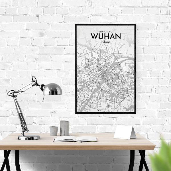 Wuhan City Map Poster by OurPoster.com