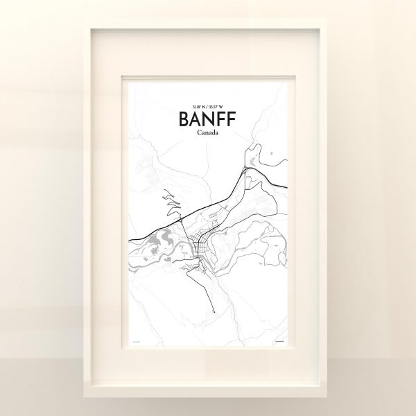 Banff City Map Poster by OurPoster.com