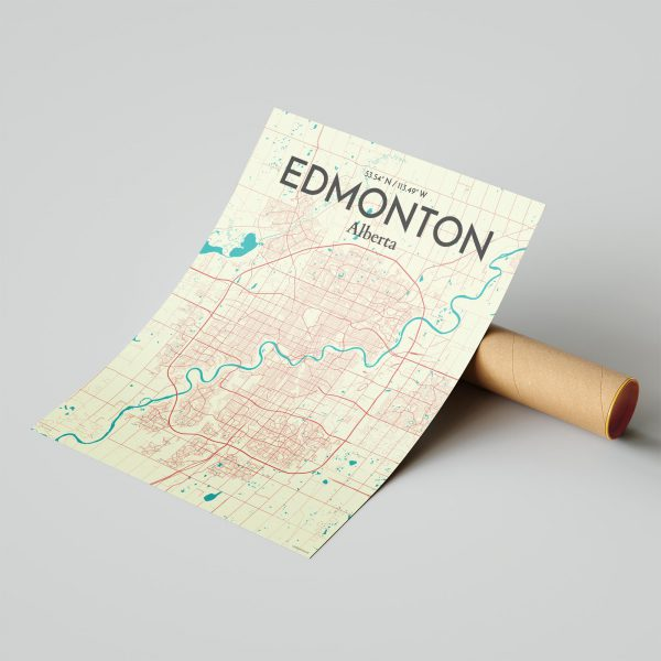 Edmonton City Map Poster by OurPoster.com