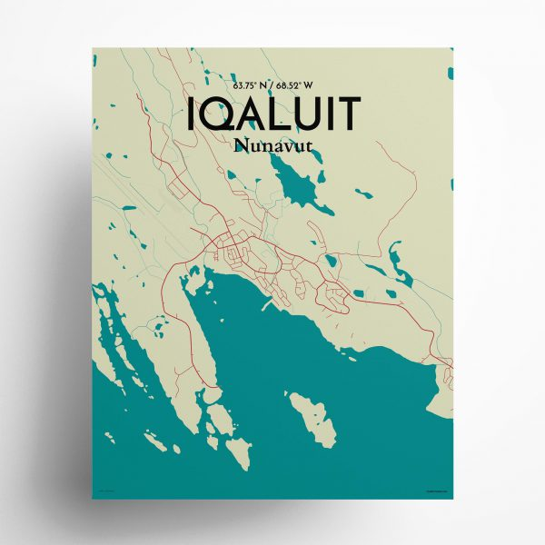 Iqaluit City Map Poster by OurPoster.com
