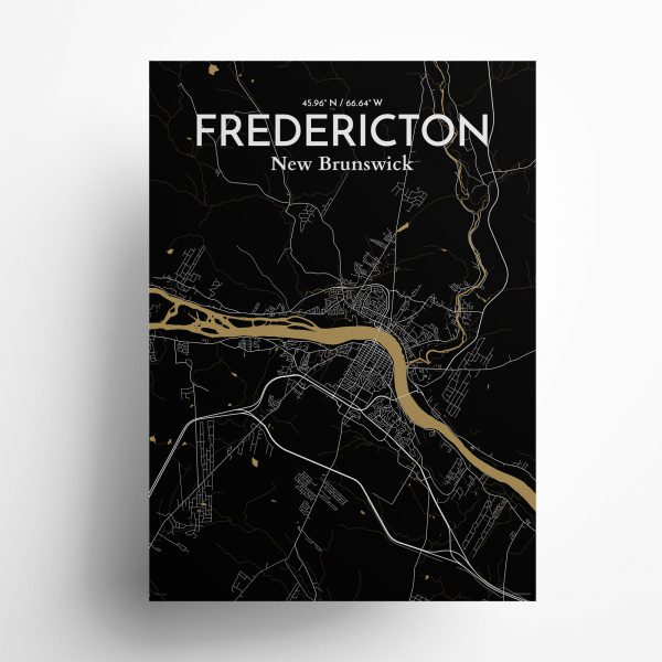 Fredericton City Map Poster by OurPoster.com