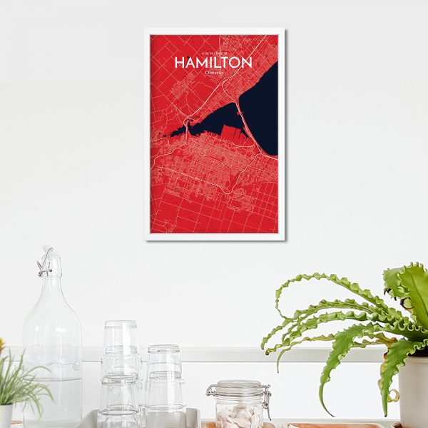 Hamilton City Map Poster by OurPoster.com