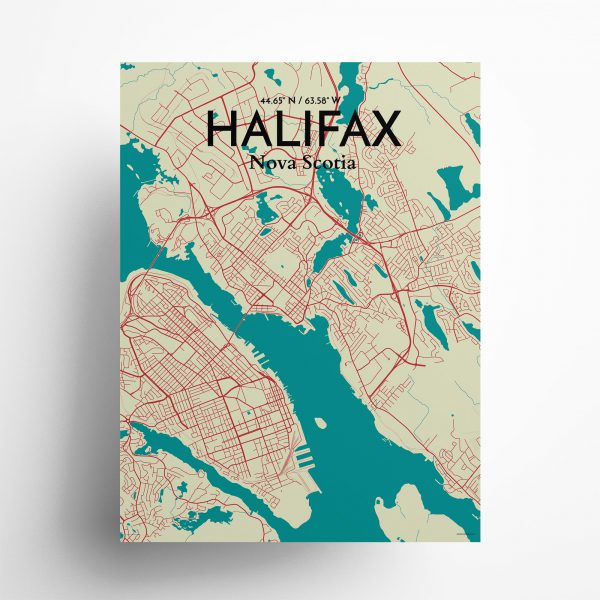 Halifax City Map Poster by OurPoster.com