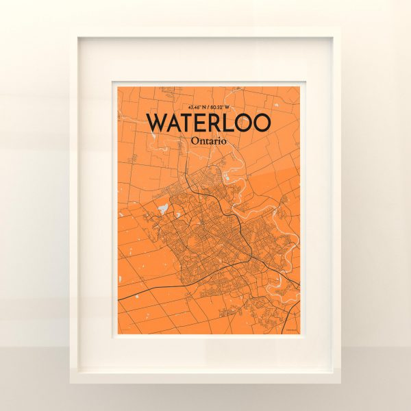 Waterloo City Map Poster by OurPoster.com