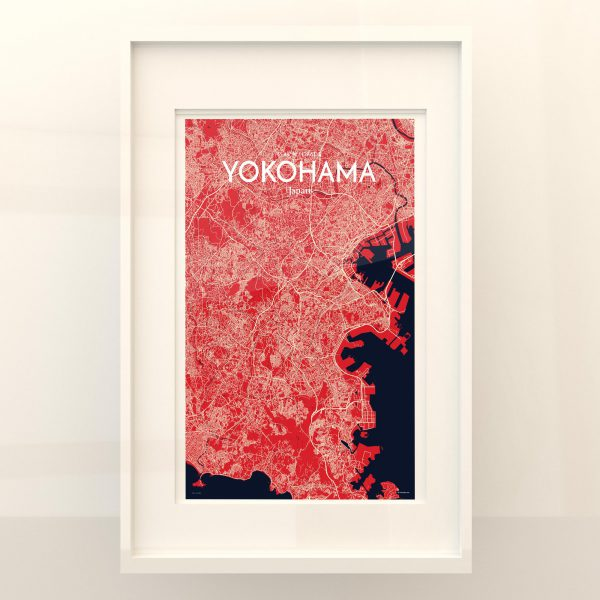 Yokohama City Map Poster by OurPoster.com