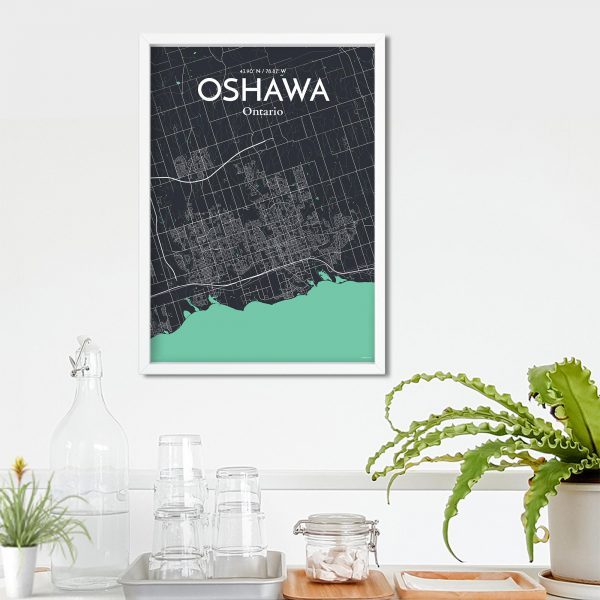 Oshawa City Map Poster by OurPoster.com