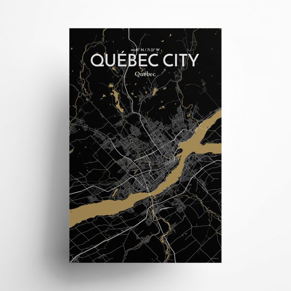 Quebec City City Map Poster by OurPoster.com